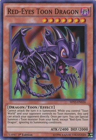 Yu-Gi-Oh! - Red-Eyes Toon Dragon (SHVI-EN036) - Shining Victories - 1st Edition - Super Rare