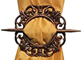 Wooden Curtain Tiebacks, Curtain Holder, Carving Round Shape HoldBacks, Easter Day / Mothers Day / Good Friday Gift