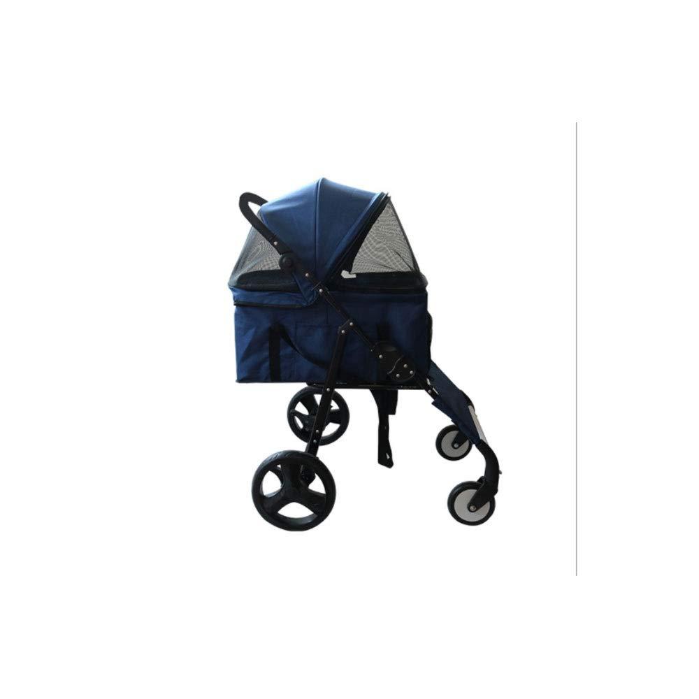 3 Wheels Pet Stroller Dog Cat Pushchair Trolley Pram Puppy Jogger Foldable Travel Carrier Strolling Cart(505  200  890mm)
