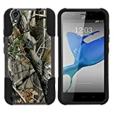 zte quartz protective phone case - ZTE Quartz Case, ZTE Z797C Kickstand Case [STRIKE IMPACT] Double Layered Hybrid Fitted Gel Hard Shell Fusion Kickstand Case by Miniturtle - Nature's Tree Camo