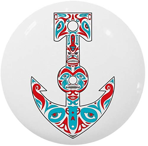 (Anchor Totem Pole Ceramic Cabinet Drawer Knob)