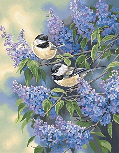 Chickadee Blend - Dimensions Chickadees and Lilacs Paint by Numbers for Adults, 11'' W x 14'' L