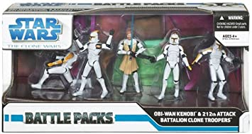 Hasbro Star Wars Clone Wars Exclusive Action Figure Battle Pack ...