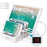 ALLCACA USB Charging Station for Multiple Devices Fast Charging Organizer with 4 USB Ports Dock Cell Phone Charger for Apple Samsung Android Phone iPhone ipad Tablets