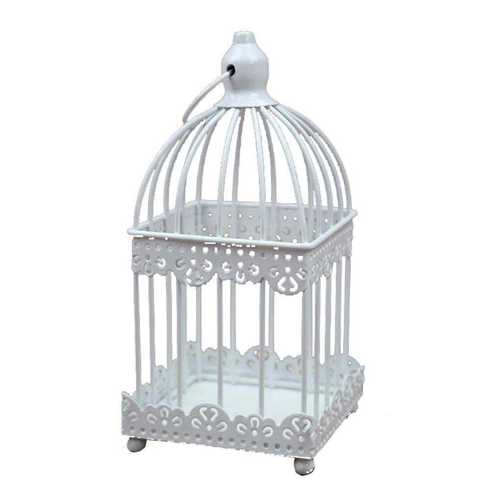 RGANT Metal Tealight Candle Holder,Hollow Out Birdcage Iron Candle Holder Vintage Hanging Candlestick Lantern for Party Wedding Decoration