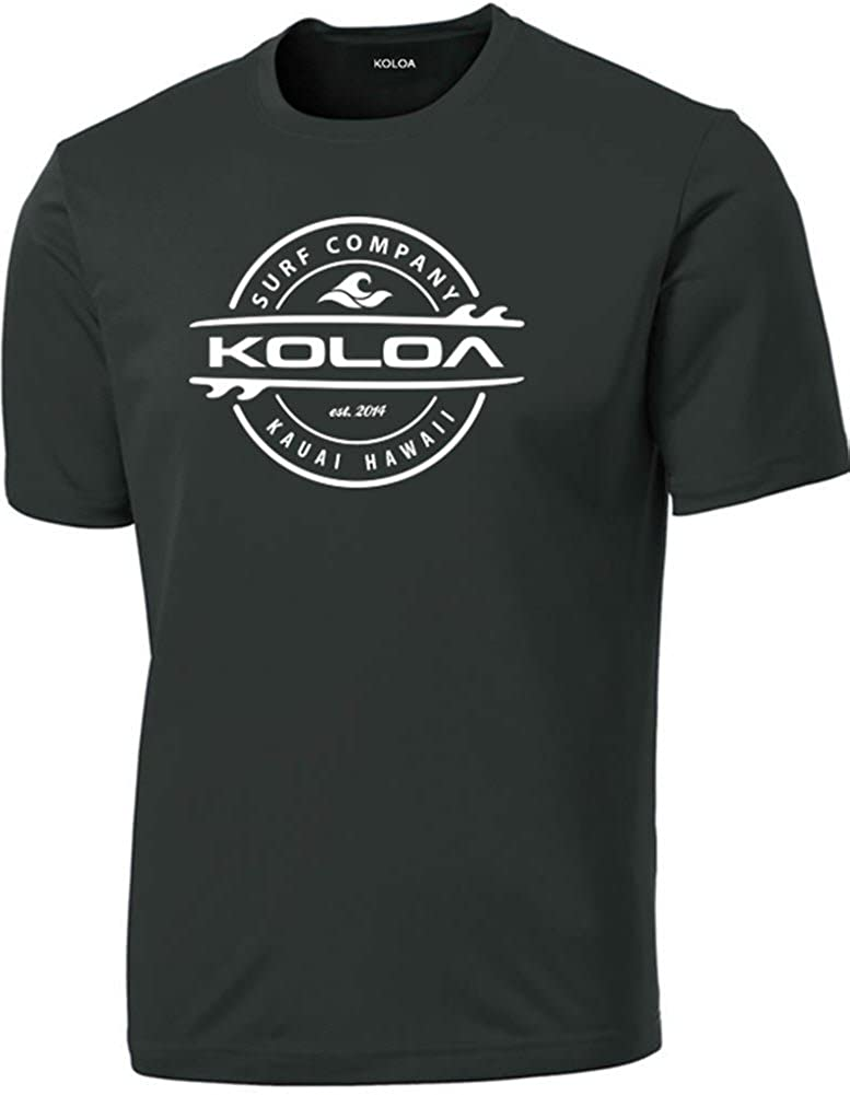 Big /& Tall Koloa Surf Thruster Logo Moisture Wicking Athletic Shirts in Regular