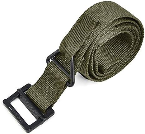 PIXNOR Bomberos militares de rescate caza supervivencia cinturón táctico (verde militar)