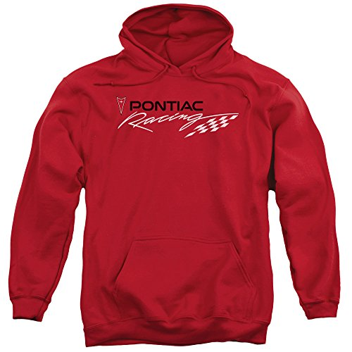 Pontiac GM Automobiles Racing Arrowhead Emblem Adult Pull-Over Hoodie (Racing Arrow)