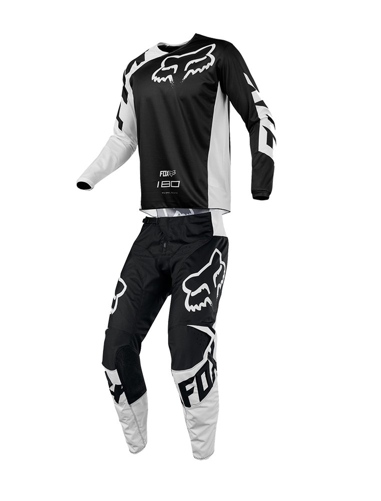 Fox Racing 2018 180 Race Jersey/Pants Adult Mens Combo Offroad MX Gear Motocross Riding Gear Black