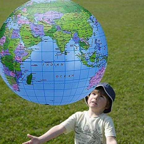 Xhuan 8 Piezas Globe Inflable PVC Globo terráqueo (Inflable ...