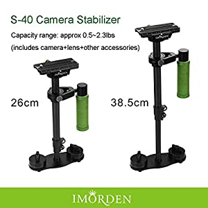 IMORDEN Carbon Fiber S-40c Video Handheld Camera Stabilizer Movie Kit Film Making System for Gopro, Smartphone, iPhone, Canon, Sony, Nikon, Pentax, Panasonic DSLR Camera(0.5~2.3lbs)