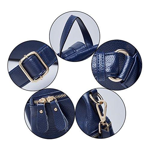 Travel Daypack Women Fashion grey Large Bag 03 Purse Leather Rucksack Blue For Boyatu Backpack zwqYABB