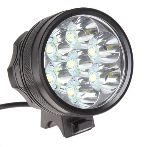 WindFire® Super Bright 7 X CREE XM-L T6 U2 8000Lm 3 Modes White LED Bike Lamp Cree LED Headlight Solid Bicycle Light and Powerful Cree LED Bike Light Headlamp LED Lamp Flashlight Torch with 8.4V 8000mAh Battery Pack and US Plug Charger Set For Outdoor Hiking, Riding, Camping and Other Activites