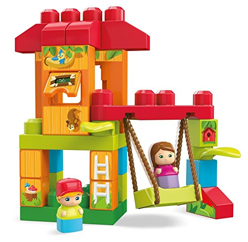 Mega Bloks Spin & Play Treehouse Adventures Building Set ()