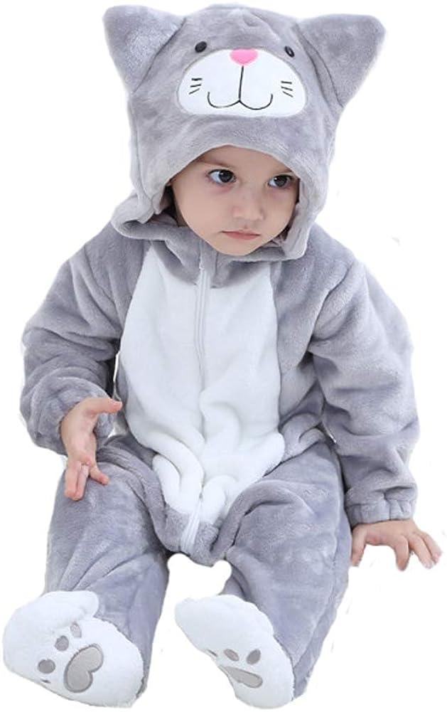 Tonwhar Baby Animal Cat Onesie Romper Halloween Costume