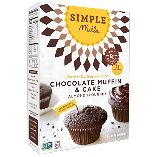 Simple Mills Chocolate Muffin & Cake Mix, Paleo, 10 Oz (2 Pack) ()
