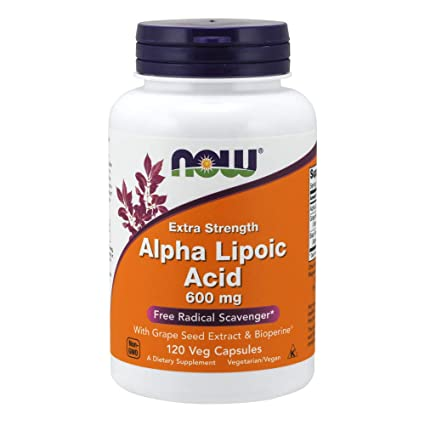 NOW Foods Alpha Lipoic Acid 600mg, 120 Vcaps