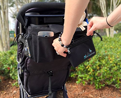 Stroller Organizer Bag with Detachable Wristlet and Extra-Large Insulated Cup Holders, Parent Storage for Smart Mom Accessories- Phone, Keys, Cards, Diapers, Perfect Baby Shower Gift by Merry Milestones (Image #7)