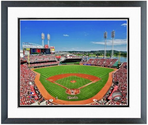 "Cincinnati Reds Great American Ballpark MLB Stadium Photo 12.5"" x 15.5"" Framed"