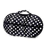 Roever Portable Fabric Travel Bra Storage Case Bra Protect Storage Box Organizer Underwear Case Travel Clothes Organizer (Black)