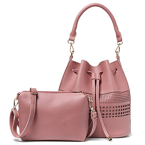 Cinidy-Womens-Handbags-Set-2-Pcs-Bag-PU-Leather-Tote-Small-Shoulder-Purse-Bag-Messenger-Bag