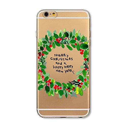 Christmas Greeting iPhone 7 / iPhone 8 Navidad Serie Funda, TOTOOSE Ultra Slim Fit prueba de golpes TPU Teléfono de Nuevo caso protector de Cubierta para iPhone iPhone 7 / iPhone 8 -Felices vacaciones Guirnalda