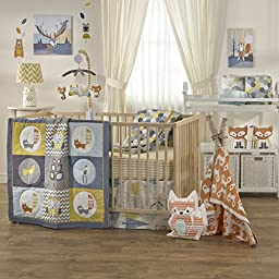 Lolli Living Woods Bumper – Hexagon – Crib Bumper With 100% Cotton Shell, Reversible Design, Comfortable Protective Padding With Secure Ties, Fits Standard Crib