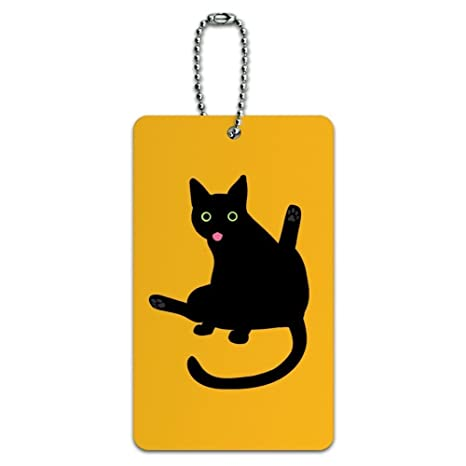 84491b090d63 Amazon.com | Black Cat Lifting Leg and Licking Luggage Card Suitcase ...