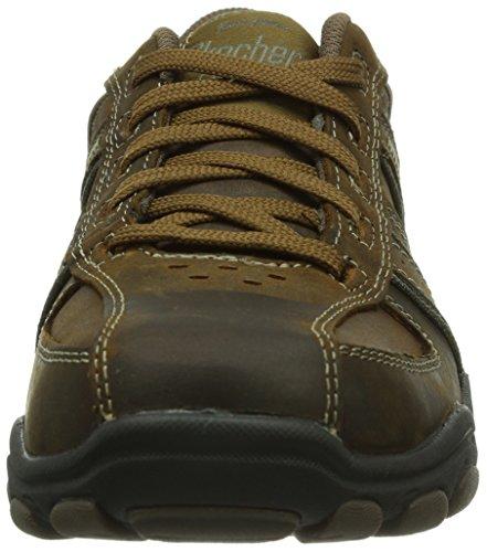 Skechers HodanNissen - zapatilla deportiva de piel hombre marrón - Braun (CDB)