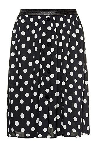 Jupe dlav Femme Jeans Nouvelles Tailles Untold 718568 Extensible Femmes Grandes Studio Noir Tailles qCU8x