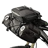 RockBros 100% Waterproof Bike Bags 2 Intergrated MTB Handlebar Cycling Tube Pouch Panniers Accessories Quick Release Frame Bags 19-20L