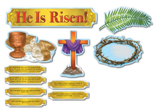 Carson Dellosa Christian He Is Risen! Bulletin Board Set (210017)