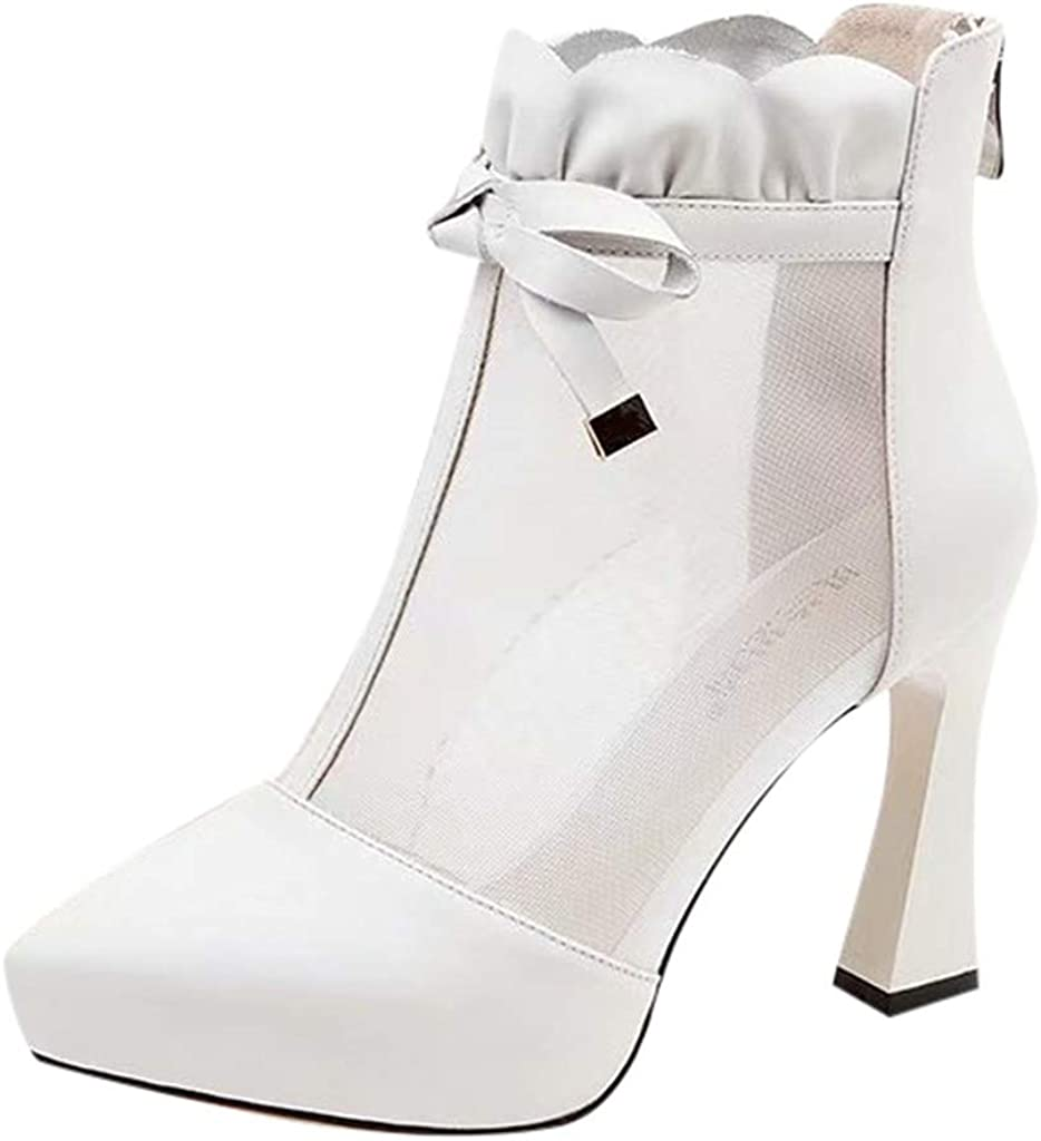 LianMengMVP Stivali con Tacco Alto Donna, Stivaletti Donna