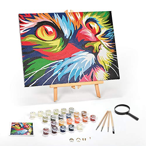 Ledgebay DIY Paint by Numbers for Adults Kit: Beginner to Advanced Number Painting Set | Fun Adult Arts and Crafts Projects | Kits Include 12 x 16 Inch Framed Canvas Full Acrylic Paint Set | 4 Brushes (Paint By Number Advanced)