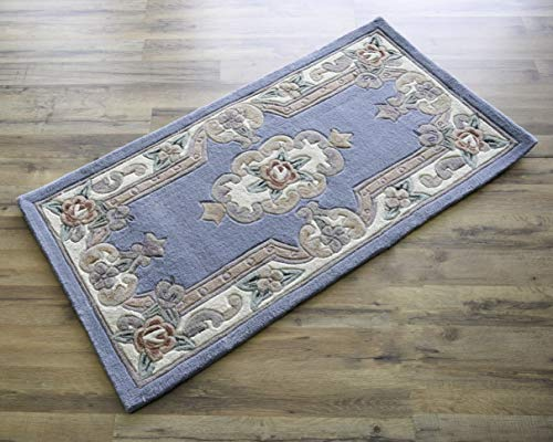 Rugs America New Aubusson Area Rug, 2-Feet by 4-Feet, Light Blue from Rugs America