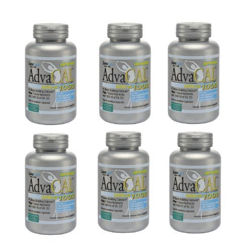 Lane Labs Advacal Ultra 1000 Calcium - 120 Capsules - Pack of 6 Bottles ()