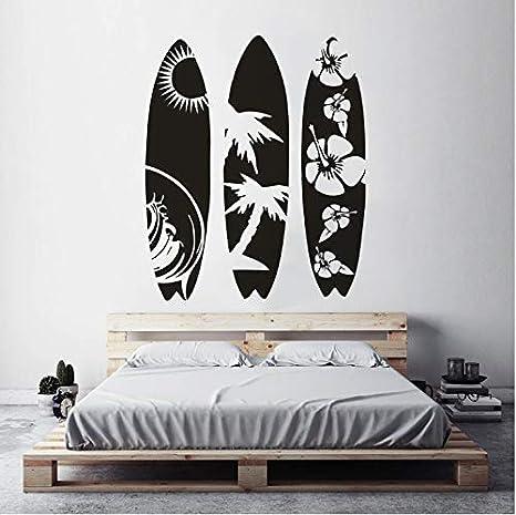 Haipeiy Tabla de Surf de Gran tamaño Etiqueta de la Pared Deportes acuáticos Etiqueta de la Pared Diseño Moderno Tabla de Surf Walllpaper Vinilo removible ...
