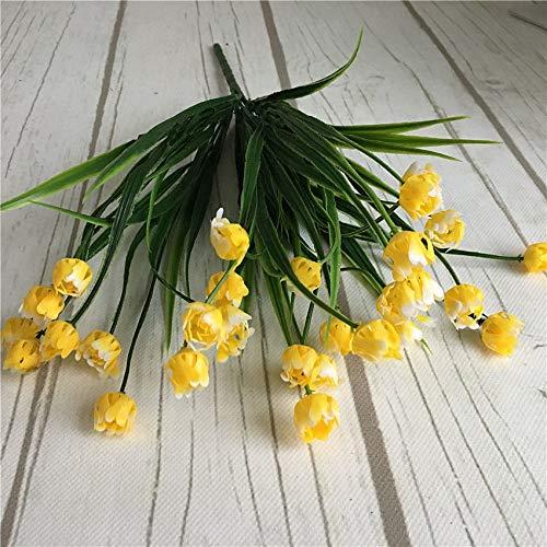 (Annibus Flower Tulip: 23 Heads Mini Tulips Bouquet Plastic Artificial Flower for Spring Home Wedding Decoration White Tulip Fake Flowers Flores)