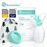 Bumblebee Breast Pump Manual Breast Pump Breastfeeding freemie Collection Cups Pump Stopper lid Pouch in Gift Box bpa Free & 100% Food Grade Silicone Breast Pump