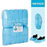Sfee 100/200 Pack Shoe Covers-Disposable Hygienic, Non Slip, Durable,Water Resistance, Recyclable,Boot & Shoes Cover for Medical,Construction,Offices,Indoor Floor Carpet Protection,One Size Fits All