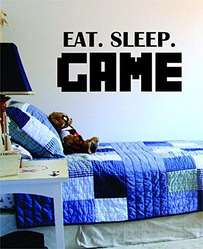 Eat Sleep Game Decal Sticker Wall Vinyl Art Design