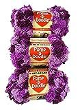 Bulk Buy: Red Heart Pomp A Doodle Yarn Plush Plum E765-9930 (3-Pack)