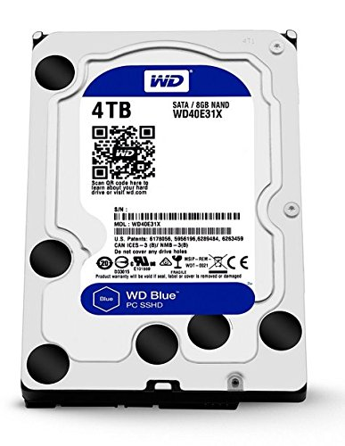 WD Blue SSHD 4TB  Desktop Hard Disk Drive -  SATA (Digital Hard Drive Flash)