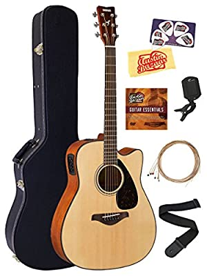 Yamaha FGX Solid Top Small Body Acoustic-Electric Guitar Bundles