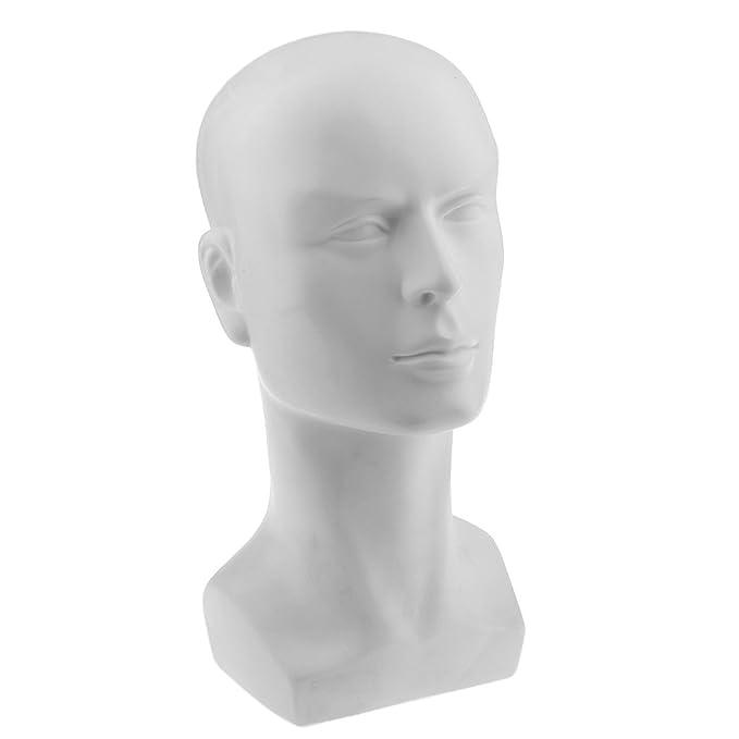 Blesiya PVC Manichino Testa Modello Stand per Parrucche Parrucchino Gioielli Occhiali da Sole Display - #1 43myxMhHC