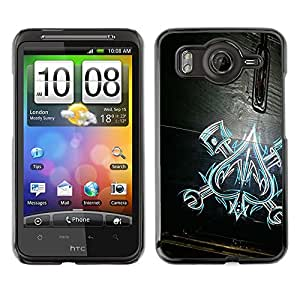 For HTC Desire HD / G10 / inspire 4GCase , Of Spades Work Mechanic Wood Pattern - Diseño Patrón Teléfono Caso Cubierta Case Bumper Duro Protección Case Cover Funda