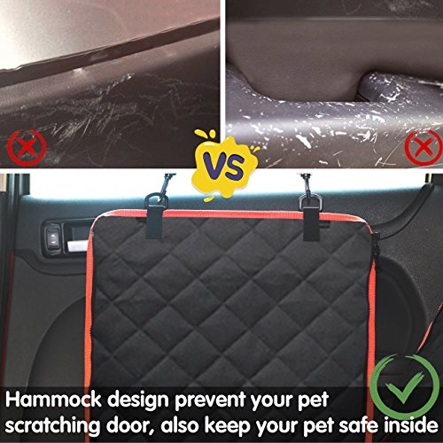 Babyltrl Dog Seat Covers, Pet Car Seat Cover with Mesh Window, Waterproof & Nonslip Hammock Convertible, Scratch Proof Side Flaps Machine Washable Back Seat Cover for Cars Trucks and SUVS by Babyltrl (Image #2)