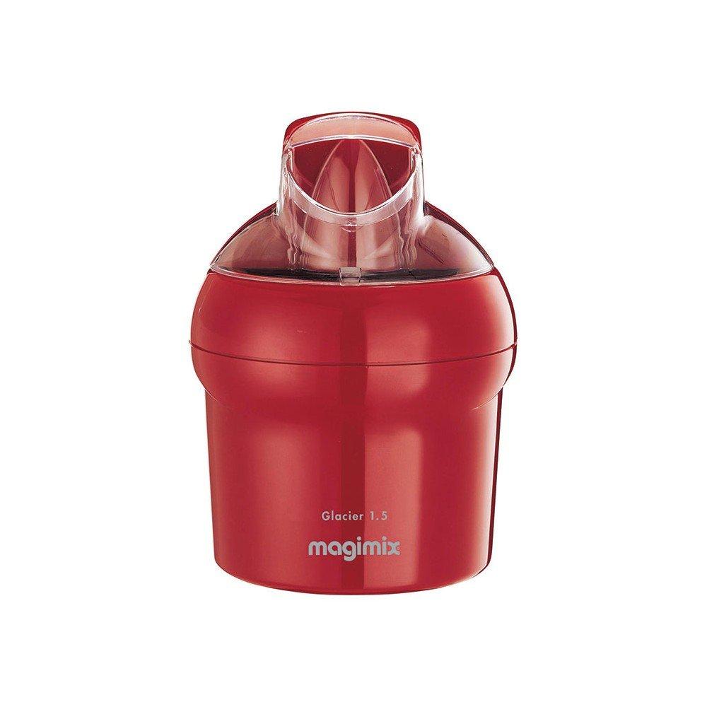 Magimix 11669Glacier Machine à Glaçons Inox Rouge