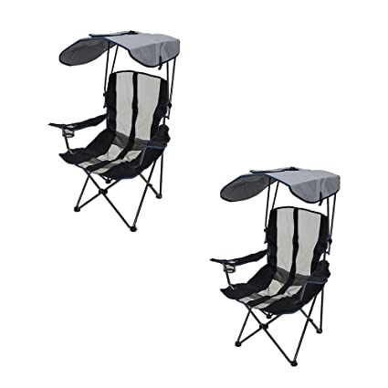 Superb Swimways Kelsyus Upf Portable Camping Folding Lawn Chair With Canopy Navy 2 Pack Spiritservingveterans Wood Chair Design Ideas Spiritservingveteransorg
