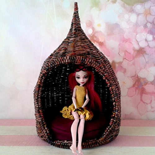 oon Chair with Mattress 1:6 scale. Fairy Garden 12 inch size Camping Hutch Tent. ()